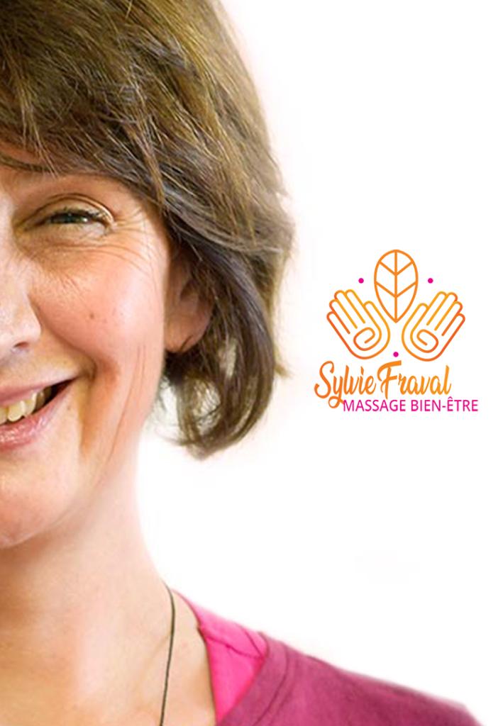 Sylvie Fraval et logo muret massage